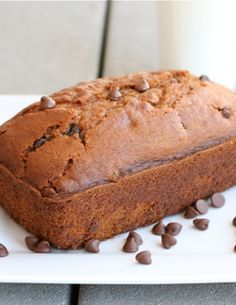 Pumpkin Chocolate Chip Bread Recipe on twopeasandtheirpod.com The BEST pumpkin bread recipe! #pumpkin #chocolatechip #bread