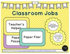 """FREE LESSON - """"Seeing Spots - Classroom Jobs"""" - Go to The Best of Teacher Entrepreneurs for this and hundreds of free lessons.  1st - 4th Grade  #FreeLesson  #BacktoSchool  http://www.thebestofteacherentrepreneurs.net/2014/09/free-misc-lesson-seeing-spots-classroom.html"""