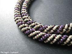 spirals, russian spiral, grape vanilla, spiral tutori, vanilla russian, ropes, lanyards, beading tutorials, spiral rope