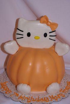 Hello Kitty Pumpkin cake