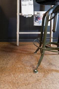 A lovely cork flooring with a really natural feel.