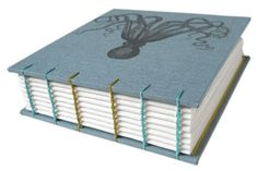 cool octopus coptic stitch book -- I really want to learn to bind handmade books some day