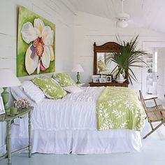 White painted wood walls.