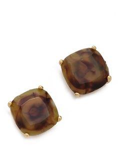 Kate Spade #brown stud earrings http://rstyle.me/n/jt95mr9te
