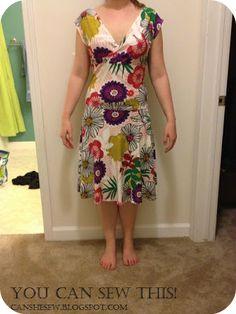 Drop Waist Wrap Dress Pattern adapted from CraftHabit.com