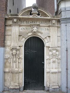 Beautiful, old doorway in Amsterdam