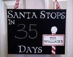 christmas countdown, christma countdown, countdown chalkboard