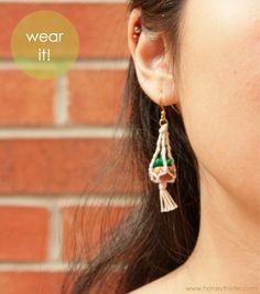 Tutorial: Hanging Planter Earrings