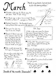 March Journaling Ideas