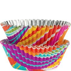 Rainbow Stripes ColorCups Baking Cups 36ct - Party City