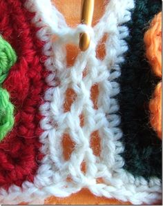 this is so pretty to stitch granny squares together