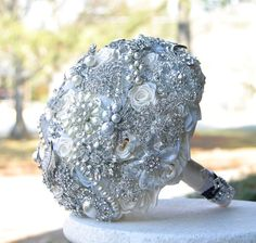 Crystal Brooch Bouquet. Deposit on made to order by annasinclair, $75.00