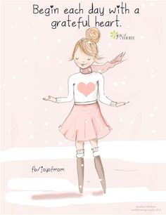 Begin each day with a grateful heart.  More beautiful quotes on Joy of Mom! ♥ www.facebook.com/joyofmom #quotes #love #gratitude #joyofmom