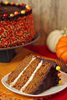 Pumpkin Layer Cake | SugarHero.com