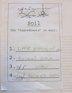 unit on rocks and soil