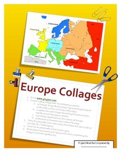 This is a culminating project to assess student understanding of the physical and human geography of Europe.  FREE!
