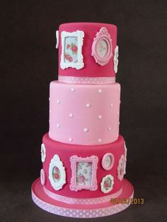 Picture frame cakes on Pinterest Picture Frames, Wedding ...