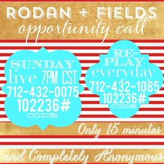 1000+ images about My Biz - Rodan and Fields on Pinterest | Rodan and ...