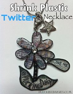 Shrink Plastic Twitter Necklace