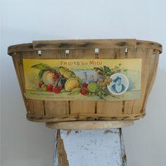 Vintage French Fruit Basket - Kickcan & Conkers Shop