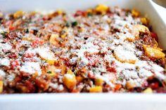 Veggie lasagne.