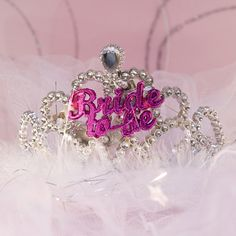 Jeweled tiara for the bride to be on her big night #bachelorette #bride #tiara