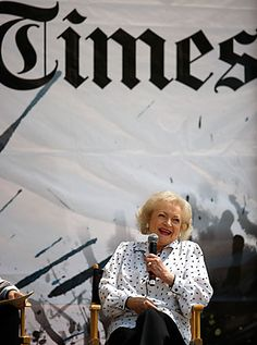 The awesome Betty White at the Los Angeles Times Festival of Books
