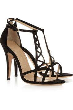 Charlotte Olympia|Marianne suede sandals