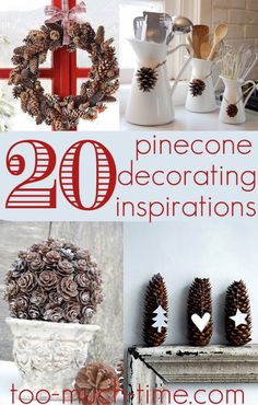 Main Ingredient Monday- 20 Pine Cones   #pinecones  #crafts nature crafts, 20 pine, pine cones decorations, pine cone decoration, craft ideas, pine cone crafts, christma, pinecon craft