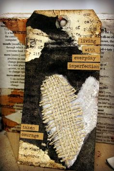 Imperfection - heart tag