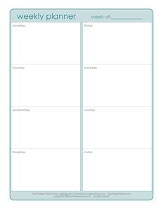 Weekly Planner (One-Page) | Organized Home