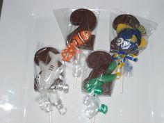 12 Disney Finding Nemo Dory Bruce Crush 2nd  Birthday Gourmet Chocolate Lollipops Birthday Party Favor Kids. $15.00, via Etsy.