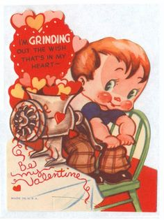 Nothing like a meat grinder full of hearts to celebrate the special day...