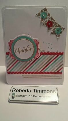 Thursday, May 8, 2014 Stamp with Roberta: Another Thanks Photopolymer Thank You, Gorgeous Grunge, You're Lovely, Fresh Prints DSP
