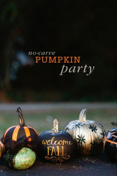 DIY Halloween: DIY No-Carve Pumpkin Decorating Party: DIY Halloween Decor