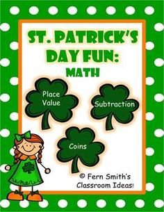 St. Patrick's Day Math Centers and Math Lessons  $ By www.FernSmithsClassroomIdeas.com
