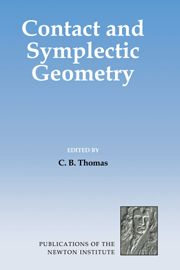 CB Thomas, Contact and Symplectic Geometry