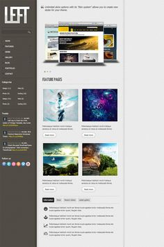 Left – Free HTML Template