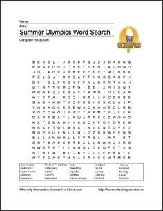 Summer Olympics Printables