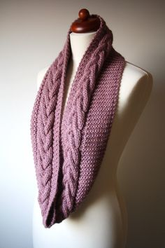 Beautiful cable scarf
