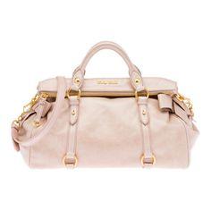 Miu Miu Pale Pink Vitello Top Handle Bag
