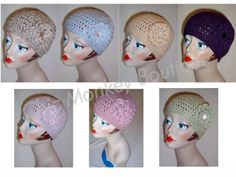 Handmade Adult Crochet Flower Hat in 18 Color Choices by Chic Monkey Boutique, $25.00