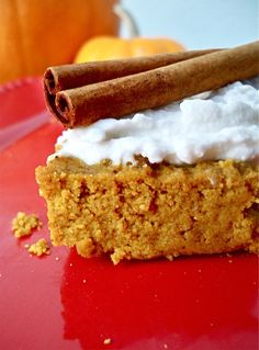 Contains eggs,  Grain-Free Pumpkin Pie Bars with Creamy Frosting (Grain-Free, Dairy-Free, Soy-Free, Gluten-Free, and Sugar-Free)