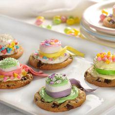 "Springtime Bonnets - another fun treat for a ""little ladies"" tea!  :)"