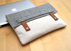 Felt & Canvas MacBook Case