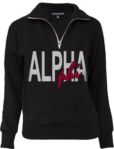 Alpha Phi Limited Edition ABD Half Zip www.adamblockdesign.com