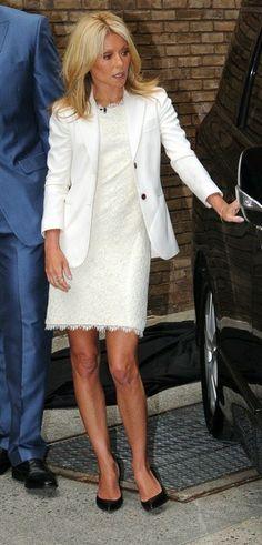 Kelly Ripa in a white blazer