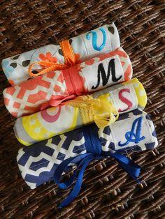 Set of 8 Bridesmaids Gift Idea Organic Fabric by CraftyStitches, $280.00