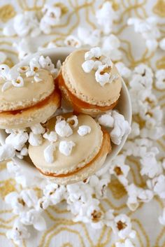 popcorn salted caramel macarons (gf)