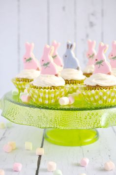 Easter Bunny Carrot Cupcakes with Vanilla Bean Cream Cheese Frosting | I Sugar Coat It